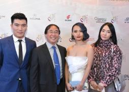中美電影節委員、艾美獎得主、好萊塢著名作曲家王宗賢(左二)
