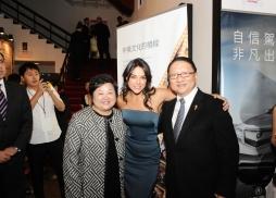 中美電影節主席蘇彥韜先生(右)和中美電影節執行總裁林淑婷女士( 左)