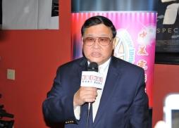 中國華僑國際交流促進會副會長、北加州華人文化體育協會創辦人戴錡致詞