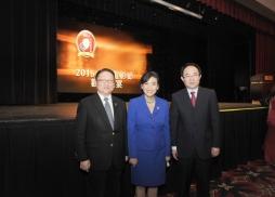 中美電影節主席蘇彥韜、美國國會議員趙美心與 中國新聞出版廣電總局電影局副局長毛羽
