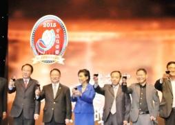 中美電影節主席蘇彥韜主席與中美影人及政要嘉賓上臺祝酒