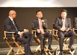 萬達文化產業集團副總裁兼万達影視控股常務副總裁高群耀發言