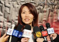 中美電影節榮譽贊助商華美銀行 資深副總裁王國蘭接受媒體訪問