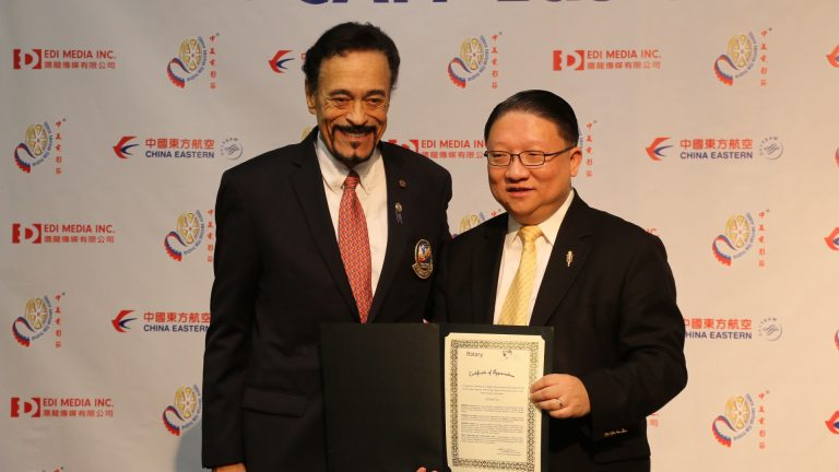 5300 District of Rotary Club Director, Luciano De Sylva, issued Certificate of Recognition to CAFF