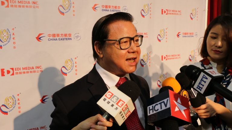 San Gabriel City Mayor, CHIN HO LIAO, taking interview