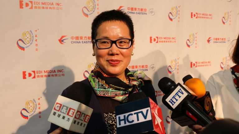 "Eastern Airlines, Naming partner of ""Eastern Night"", GM of North America Area, Ping Lu taking interview"